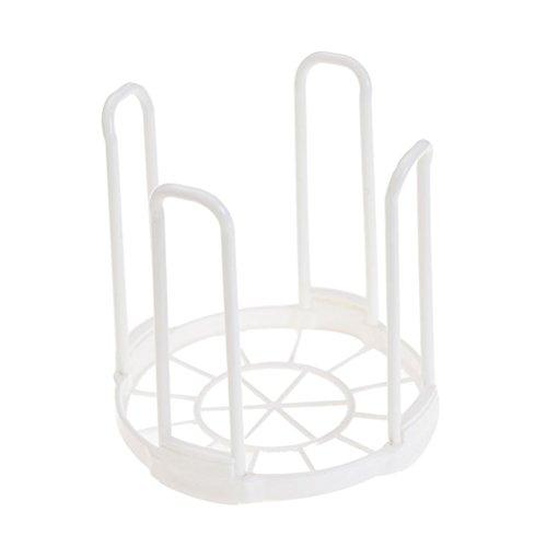 BESTONZON Schale Kunststoff Wäscheständer mit Wäscheständer mit Stollen, Kochen, Teller mit Deckel Halter Organizer (Schwarz)