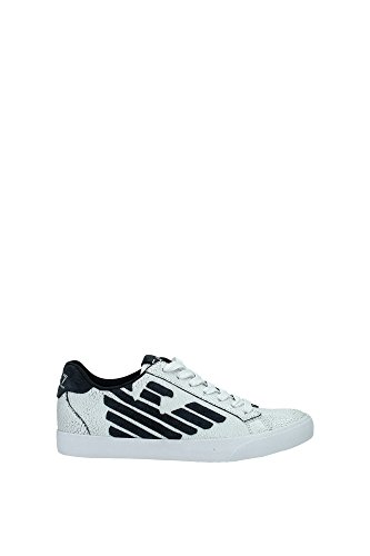 27805A29900010 Armani Emporio Sneakers Femme Cuir Blanc Blanc
