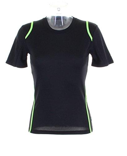 Gamegear Cooltex T-Shirt KK966 pour femme Multicolore - Black/Lime