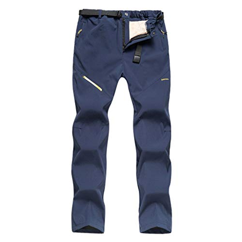 Pantaloni da Uomo Trekking Oltre A Invernali Softshell Imbottiti in Velluto d'Acqua Abbigliamento Outdoor Antivento Spessi Lavoro Slim Fit Coulisse Tasche Pants Trousers Sportiv