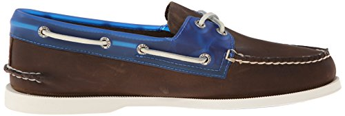 Sperry A/o 2-eye Rubber Collar, chaussures bateau homme Marron - Braun (DK BROWN/BLUE)