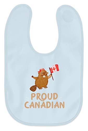 Schuhboutique Doris Finke UG (haftungsbeschränkt) Kanada Stolzer Kanadier Biber Holz Wald - Baby Lätzchen -Einheitsgröße-Baby Blau