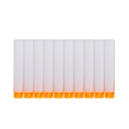Mira precisione nerf n-strike elite dardi disruptor originali ricarica 100 dardi mega serie proiettile freccette darts eva refill scavato forma 'z' 10 cololi(la fluorescenza bianco)