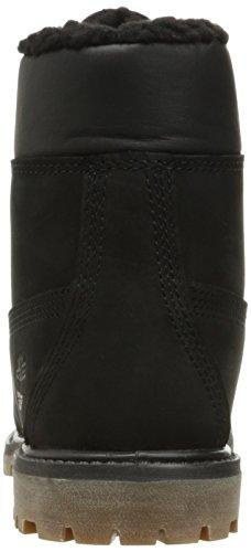 Timberland Womens 6 Inch Premium Fleece Lined Nubuck Boots Schwarz