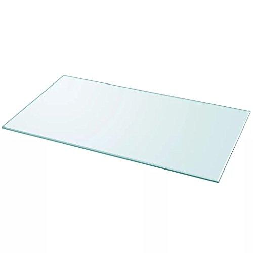 Nishore Glas Tischplatte 120 x 65 cm Glasplatte Ersatzteil Quadratisch Tischplatte Esstische, Couchtische, Gartentische aus Gehärtetem Glas