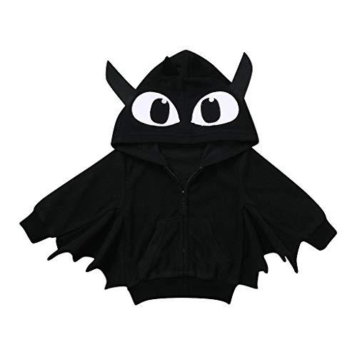 Kostüm Kleinkind Ghost - BaZhaHei Halloween Kostüm Kleinkind scherzt Baby-Jungen Mädchen-Halloween-Karikatur-Mantel-mit Kapuze warme Oberbekleidung Festival Cosplay Halloween Outfits Set