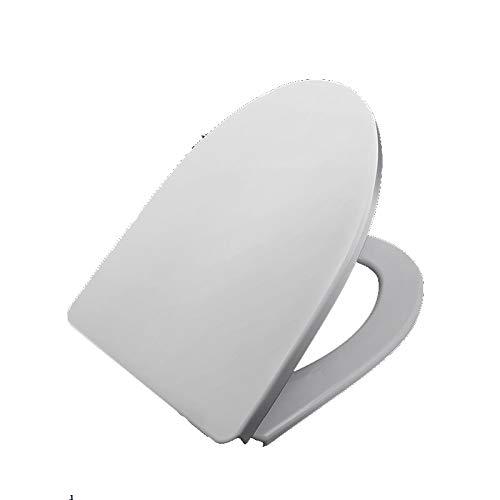 ME Toilettendeckel, Antibakteriell Weiß Soft Slow Close Toilleten Sitz Ruhig mit Easy Schnelle Veröffentlichung Top Befestigung Fest Einstellbare Scharniere,White