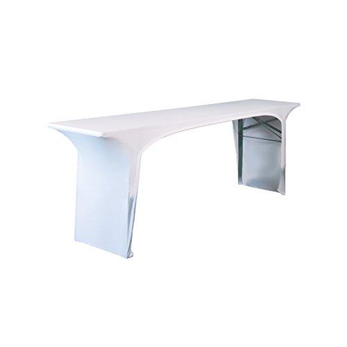 Expand Original BUD-BZ50TO Husse, Cover für Bierzelttisch, Festzelttisch/weiß/Stretch/50cm/1er Set