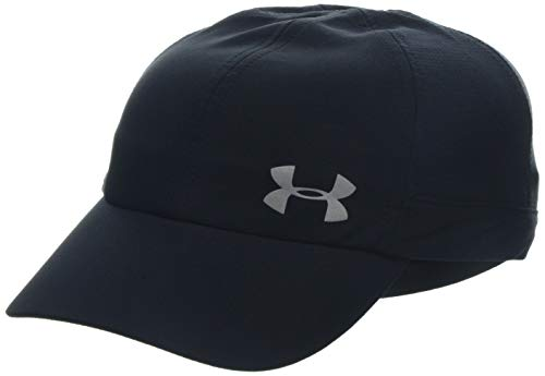 Under Armour UA Fly By cap, Cappello Donna, Nero (Black/Silver), Taglia unica