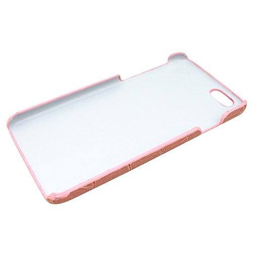 Wkae Case Cover Krokodil Textur Leder Skinning Plastics Fall für das iPhone 6 Plus &6S plus ( Color : Pink ) Pink