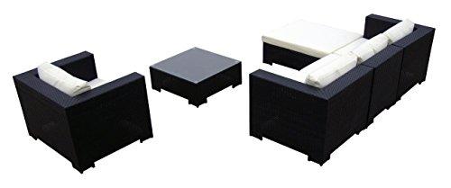 Baidani 10c00014.00001 Sitzgruppe Daydreamer, Rattan, 4-teilig, schwarz Bild 2*