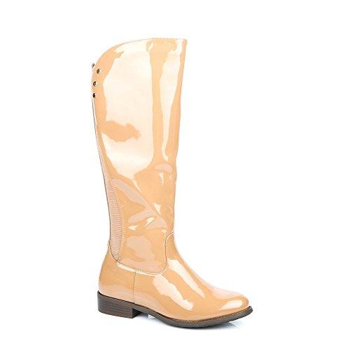 Ideal Shoes - Bottes de pluie style cavalière Berangere Beige
