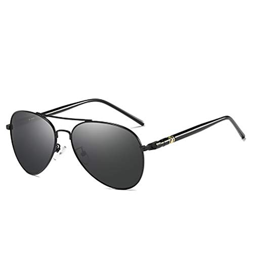 Sonnenbrille Classic Herren Polarized Sonnenbrille Driver Driving Mirror Frosch Spiegel Anti-UV Level 400 Linse,Black