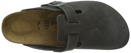 Birkenstock Boston, Sabots mixte adulte Gris (Microfibre Anthracite Vegan)