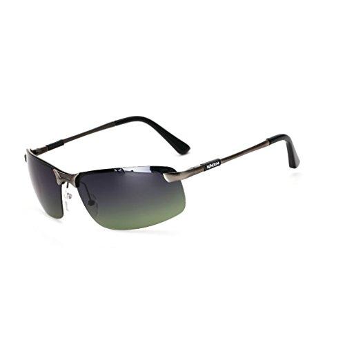 Lunettes de Soleil Rétroviseur pour Hommes Polarized Pilot Pilot Mirror Korean Personality Sunglasses (Couleur : 7)