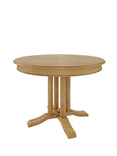 Esstisch Tisch rund mit Klappeinlage Allegro, Pinie massiv