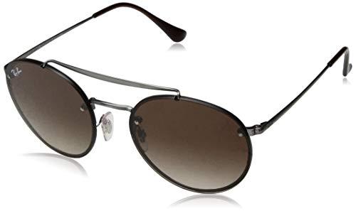 Ray-Ban Unisex-Erwachsene 0RB3614N Sonnenbrille, Pink (Demi Gloss Gunmetal), 54.0
