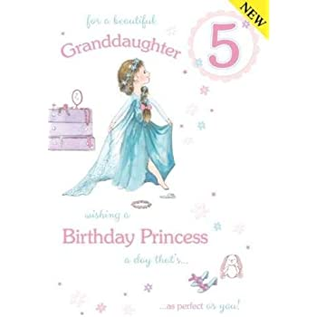 For A Beautiful Granddaughter Age 5 Birthday Card Lovely Verse