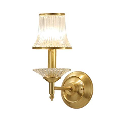 MTXLtd Wandleuchte Lichter Wandleuchten Wandleuchte Bronze Europäischen Schlafzimmer Lichter Nachttischlampe Kristall Luxuriöse Zeitgenössische Einfache Beleuchtung E27 Led 14 * 35 cm a