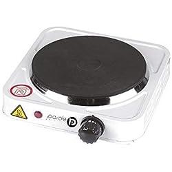 Cocina Eléctrica hornillo 1000W Placa de 1 Fuego - Ideal para Camping