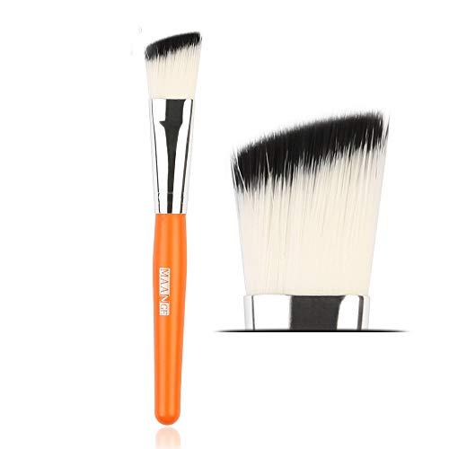 Beauty-Tools,Jaerio 1Pc Makeup Brushes Powder Foundation Eyeshadow Eyeliner Lip Cosmetic Brush Holzgriff, farbiges Faserhaar, Mascara, Augenbrauenstift, Eyeliner, Valentinstag, Freundin