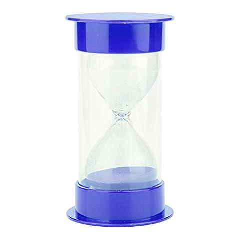 Sanduhr Zeitschaltuhr Sanduhren Blaues Glas Plastik 20 Minuten zählen Sanduhr Spiele für Kinder
