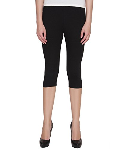 Goodtry-Womens-Cotton-Capri-Black