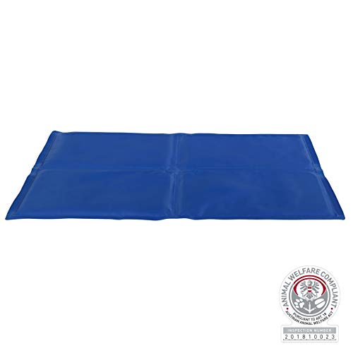 Kühlmatte für Hunde, 90 × 50 cm, blau