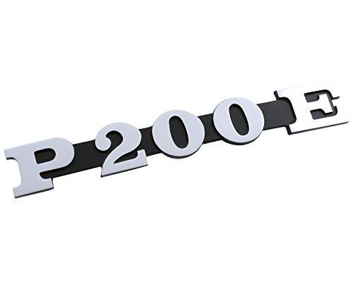 'Inscription autocollants pour capot latéral p200e Noir/Aluminium