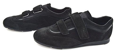 Prada Herren Turnschuhe Freizeitschuhe Sneaker SCHWARZ/BRAUN Wildleder 4O2280 8,5 (EU 42,5) Nero - Black