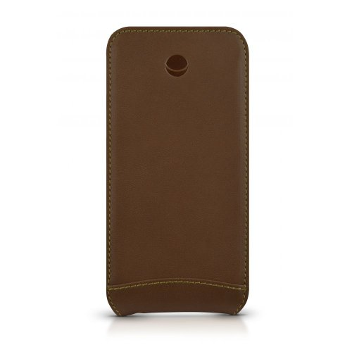 Beyzacases Folio Custodia per Apple iPhone 5/5s, Abbronzatura