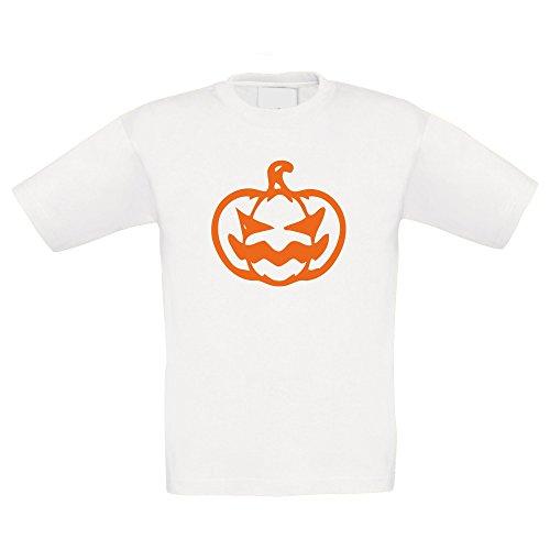 Kinder Halloween Shirt - Kürbis - glow in the dark, weiss-orange, (Kostüme Familie Halloween Für 6 Ideen Von)