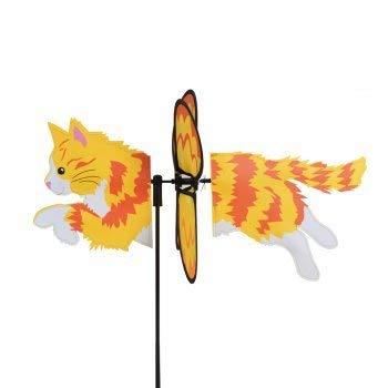 Girouette chat, moulin à vent chat dans son jardin - décoration extérieure chat balcon, terasse - très grande qualité reconnue dans le milieu des moulins à vent