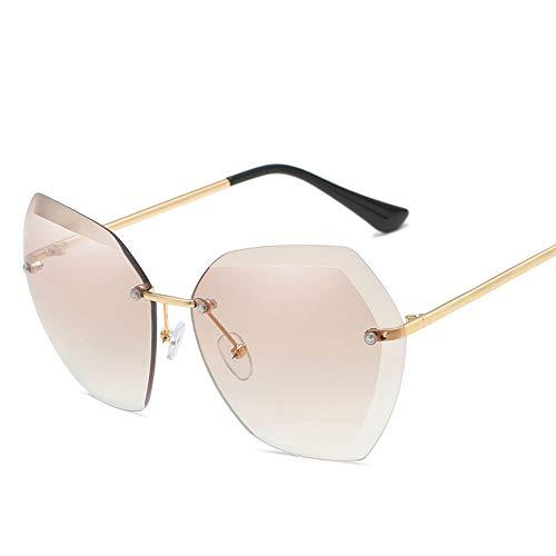 DIYOO Sonnenbrille Frauen männer Unisex Mode Farbverlauf Sonnenbrille klassischen ton Spiegel objektiv Brille Reise Sonnenbrille Hellbraun