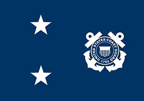 magFlags Flagge: Large United States Coast Guard rear admiral | Rear Admiral in the United States Coast Guard | Querformat Fahne | 1.35m² | 90x150cm » Fahne 100% Made in Germany (Coast Guard Emblem)
