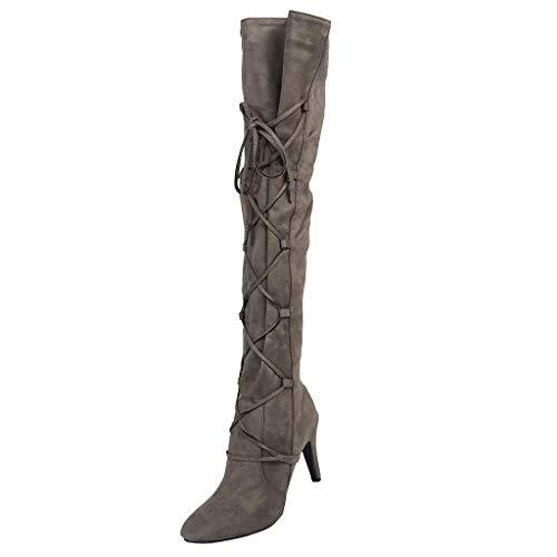 Vovotrade Donna Affascinante Boots Stivali Stivali a Punta Invernale