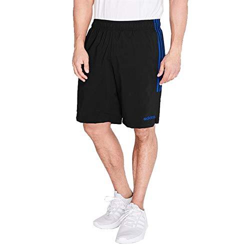 3 Essential Training (adidas Essentials 3-Stripes Herren Chelsea Athletic Laufshorts (Schwarz/Bright Royal, XXL))