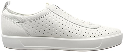 Ecco Herren Soft 8 Sneaker Weiß (White)