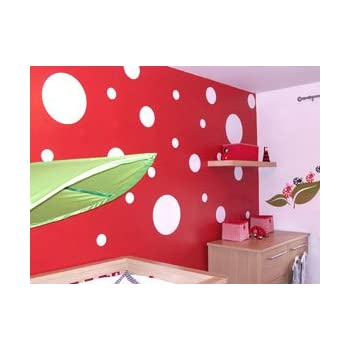 Polka Dots Wall Stickers, Circle Wall Stickers, Wall Vinyl Art Decal,  Choose Your Part 81