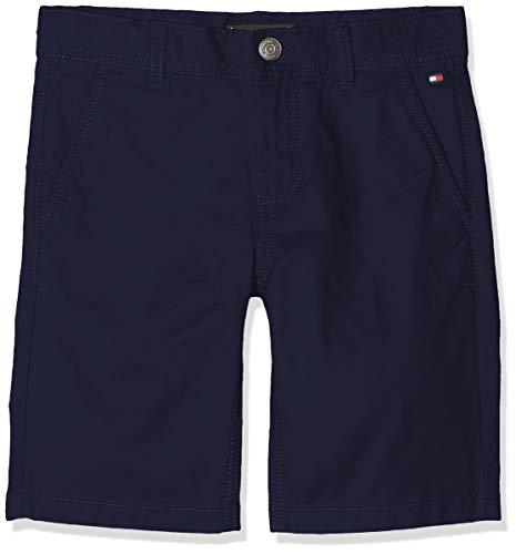Tommy Hilfiger Jungen Essential Twill New Chino Shorts, Blau (Black Iris 002), 122 (Herstellergröße: 7)