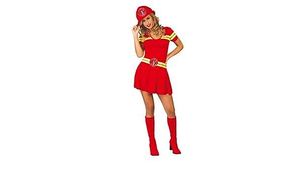 GUIRCA Costume pompiera pompiere vigili del fuoco carnevale donna mod 80740