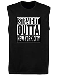 Singlete para los Hombre Negro WES1041 Straight Outta New York City Forever IN MY Heart