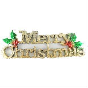 YUYU Schede alfabeto Merry Christmas con porte
