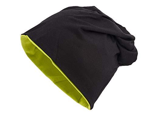 Shenky - cappello double-face in 2 colori - unisex - nero/verde oliva
