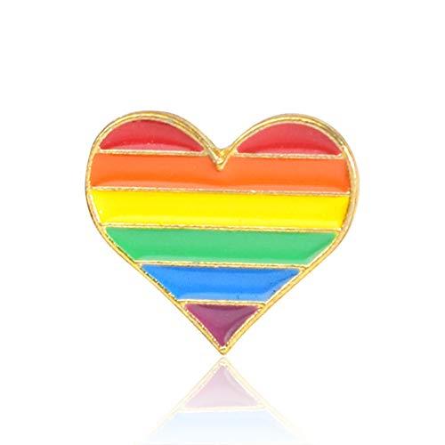 Ototon Brosche Damen Herz Regenbogen Fantasie Schmuck für Damen Mädchen Geburtstag Party Geschenk, A (Katze Im Hut Frau Kostüme)