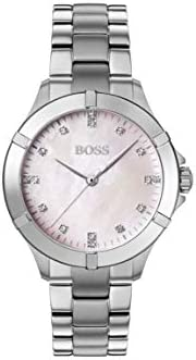Hugo Boss Womens Quartz Watch, Analog Display and Stainless Steel Strap 1502469