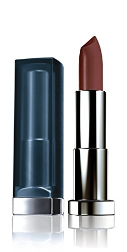Maybelline Color Sensational Inti-Matte Nudes Lippenstift, Nr. 988 brown sugar, taucht die Lippen in einen sinnlichen, dunklen Schokoladenton, mit Matt-Finish, feuchtigkeitsspendend, 4,4 g (Brown Lippenstift Golden)