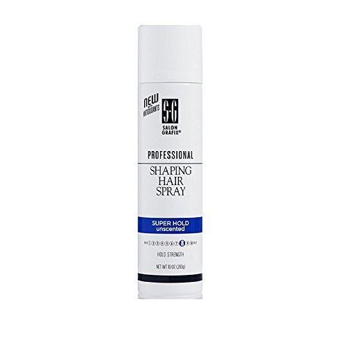 Salon Grafix Professional Shaping Hair Spray, Unscented, Super Hold Styling Mist 8, 10-Ounce Spray Bottles (Pack of 3) by Salon Grafix (Shaping Spray Hold)