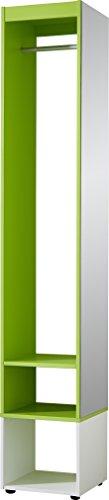Germania 3497-181 Garderobe , 35 x 199 x 35 cm, weiß  grün
