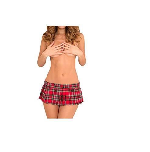 ock Ouvert Babydoll Nachtwäsche Cosplay Schulmädchen Kostüm Kleid Halloween Kostüm Erotik Karierter Rock Uniform Dienstmädchen Nachtwäsche MiniKleid ()